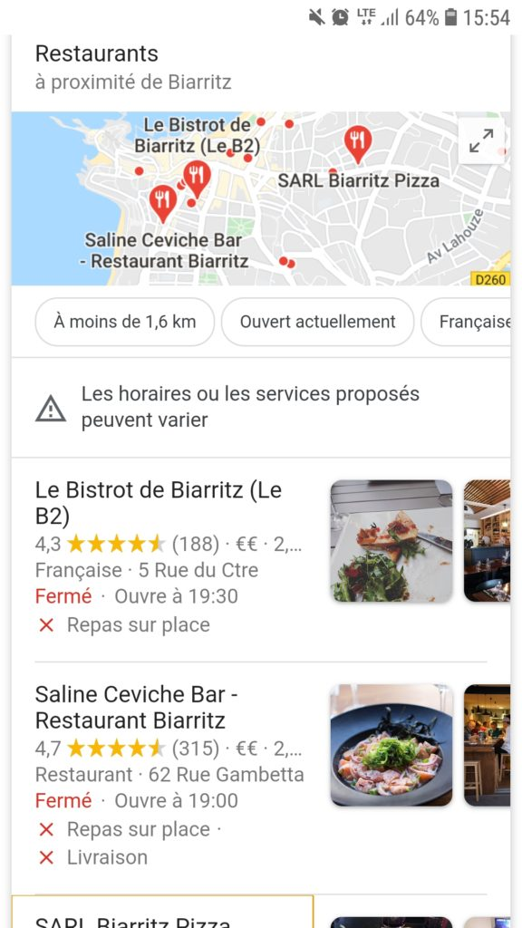 Les fiches google mybusiness