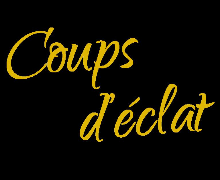 Logo de notre client Coups d'éclat