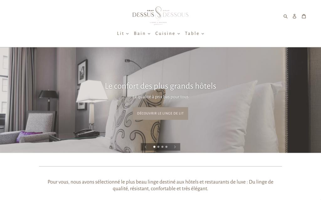 Site de vente de linge de maison à Lyon - Site e-commerce