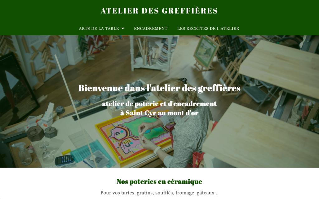 Site d'encadrement et de poterie à Saint Cyr au mon d'or - Site de vente e-commerce