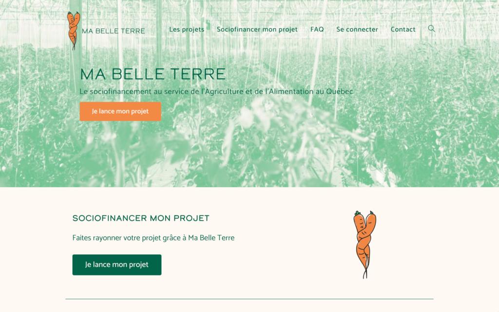 Accueil - Ma Belle Terre - Un site d'Atlas-Studio de sociofnancement