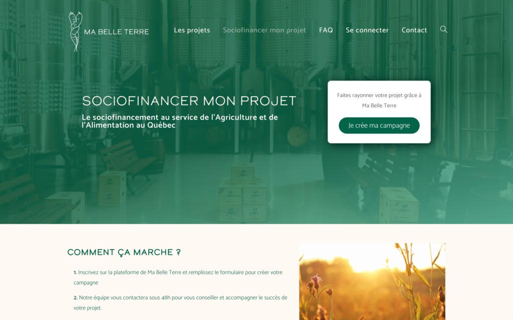 Financer mon projet - Ma Belle Terre - Un site d'Atlas-Studio de sociofnancement