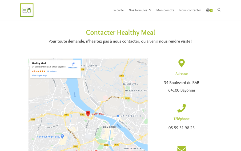 Healthy Meal - Contact