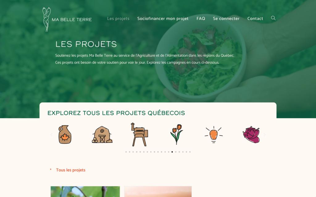 Projets - Ma Belle Terre - Un site d'Atlas-Studio de sociofnancement