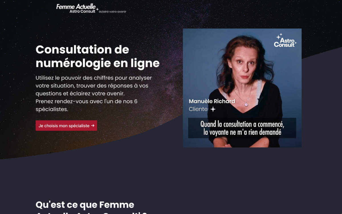 Read more about the article Femme Actuelle Astro Consult