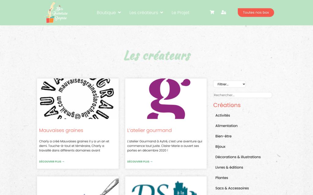 Box Rochelaise Surprise - Page créateurs - Site e-commerce