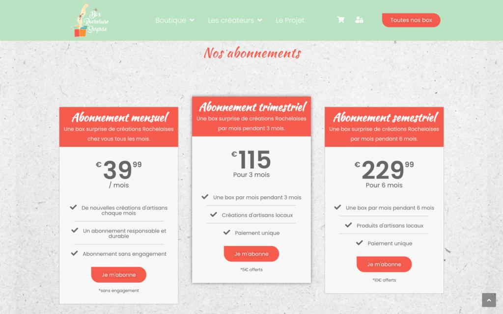 Box Rochelaise Surprise - Site e-commerce