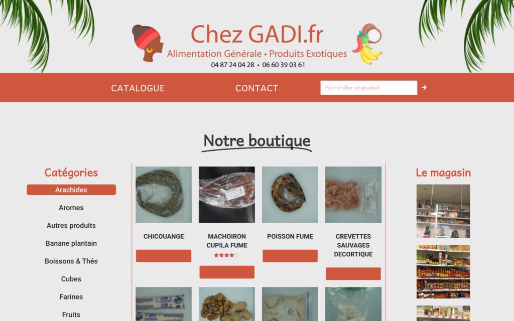 Chezgadii.fr - accueil - Site dynamique