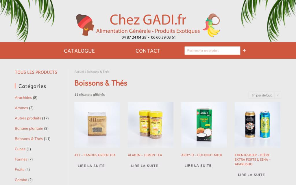 Chezgadii.fr - catalogue - Site dynamique