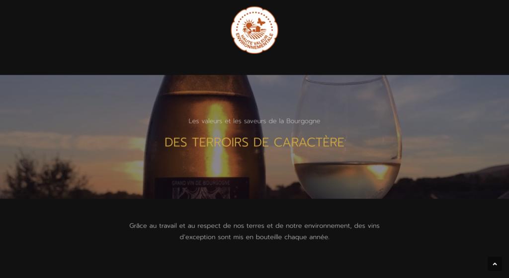 Domaine le Virolys site internet vitrine multilingue