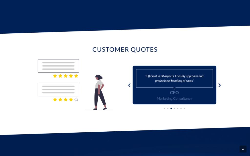 Infinitus Payment - Avis clients - Site vitrine anglais