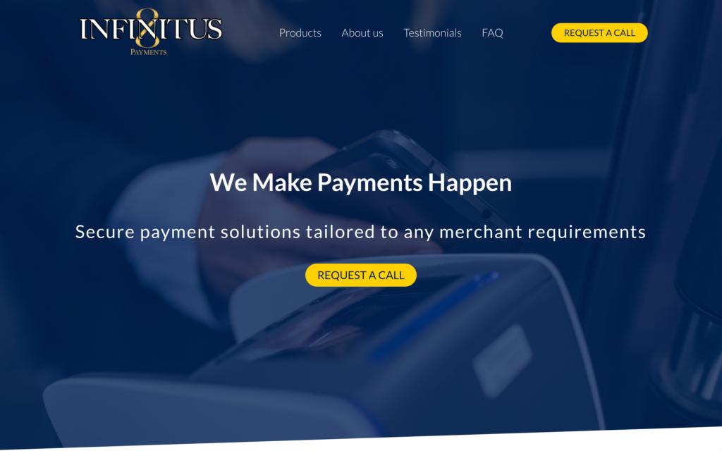 Infinitus Payment - Home - Site vitrine