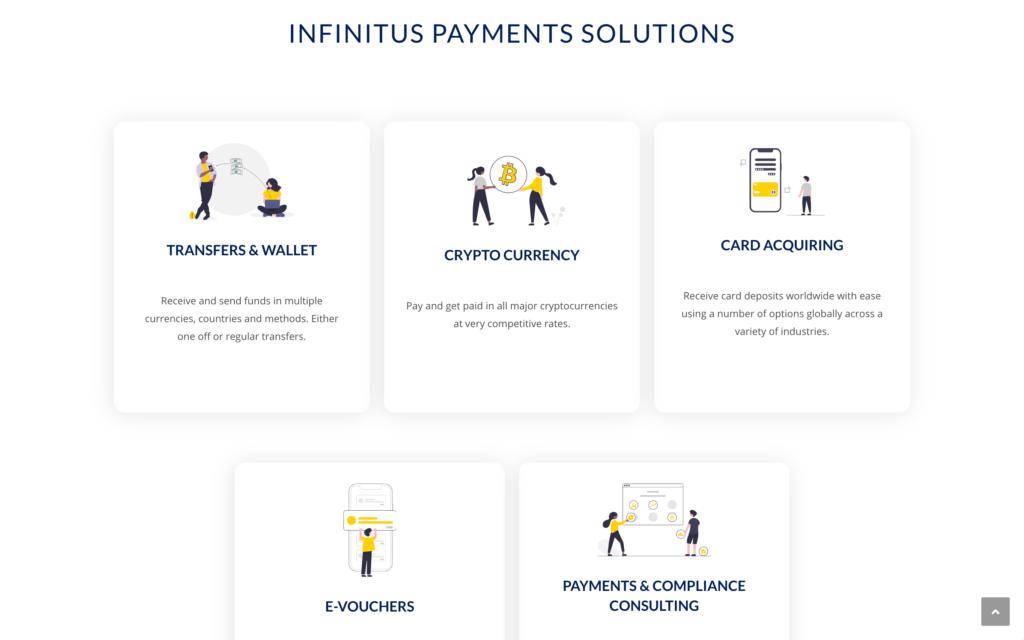 Infinitus Payment - Solutions - Site vitrine