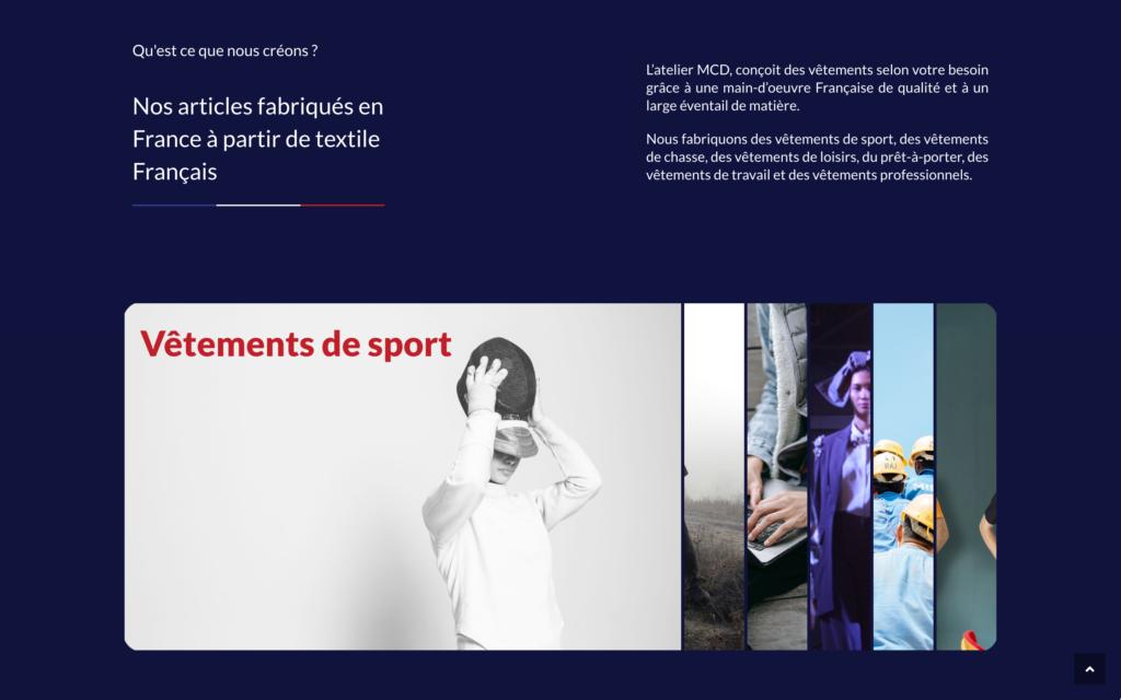 L'atelier MCD - Site vitrine vêtements fabriqués en France (1)