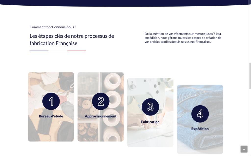 L'atelier MCD - Site vitrine vêtements fabriqués en France (2°